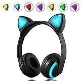 AJAHBGSMXD - Auriculares de Diadema con Orejas de Gato para Juegos de Anime, Escuchar música, Deportes, Escalada, etc.