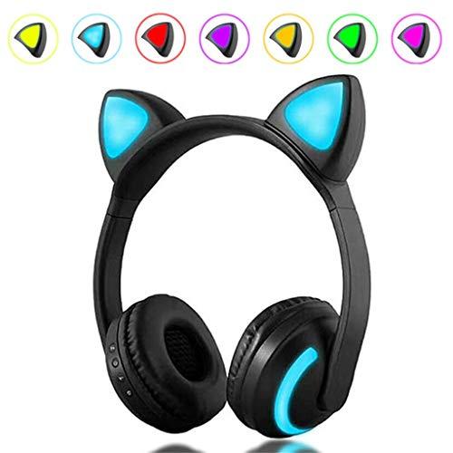 AJAHBGSMXD - Auriculares de Diadema con Orejas de Gato...