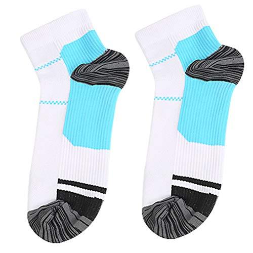 HEALIFTY 1 Paar atmungsaktive Socken Sport Freizeit Kompressionsstrümpfe elastisch atmungsaktiv schweißabsorbierende Kompressionssocken Größe L (blau)