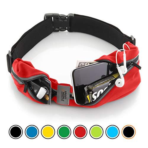 Sport2People Reflektierend Läufer Gürtel (rot-schwarz) (Was Eins Outfits Und Was Zwei)