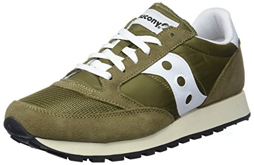 Saucony Jazz Original Vintage, Zapatillas de Cross Unisex Adulto, Verde (Olive/White 13), 43 EU