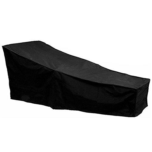 41ZT pIGrqL. SS500  - FlowersSea 1Pcs Sunbed Cover Outdoor Anti SUV Sun Lounger Covers Waterproof Garden Rattan Patio Furniture Protector Black 2.08m X 0.76m X 0.41-0.79m / 6.82ft X 2.49ft X 1.34-2.59ft