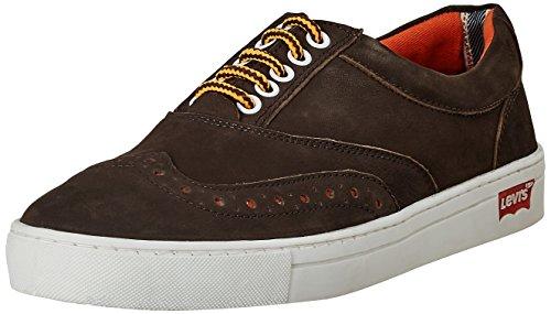 Levis Men's Yontville Low Brogue Brown Leather Sneakers - 10 UK