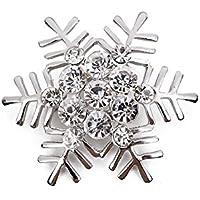 * Regno Unito * Argento Natale Fiocco di neve con strass Spilla neve ghiacciolo costume gioielli