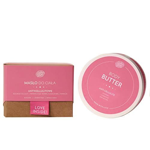 BodyBoom Shea Butter Anti Cellulite Creme Körperbutter   200ml   Körperbalsam mit Koffein   Minimalisiert das Fettgewebe & Befeuchtet   Natürliche Zutaten   Vegane Kosmetik Hergestellt in Europa