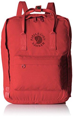 Imagen de fjällräven re kånken poliéster rojo    para portátiles y netbooks poliéster, rojo, monótono, unisex, bolsillo frontal, cremallera
