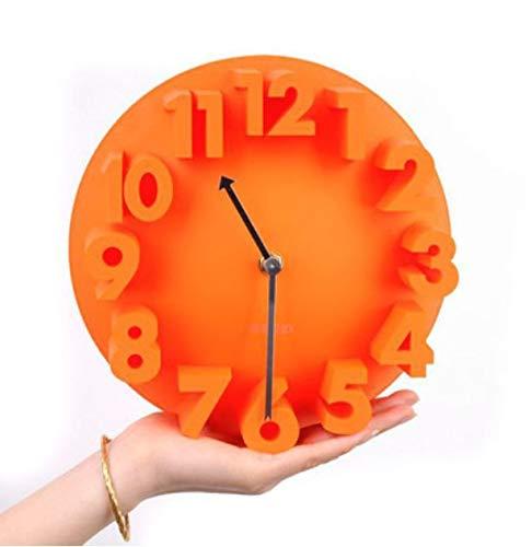 Relojes De Pared Despertadores Relojes De Pared Redondos De La Bóveda del Número del Arte Moderno 3D De La Decoración Casera Mejor