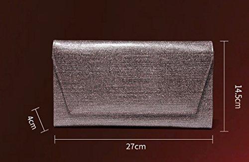 TaoMi Homw- Handbeutel-weibliche große Kapazitäts-Handbeutel-Kettenbeutel Einfache wilde Kurier-Beutel / mit Schultergurt Bright gray