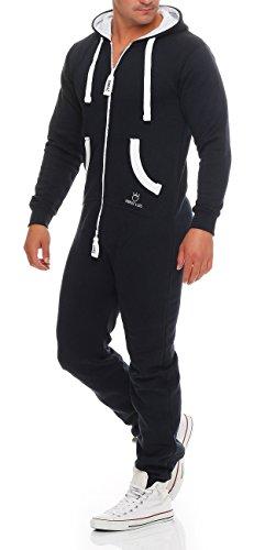 PRINZ LUIS Herren Jumpsuit Jogger Jogging Anzug Trainingsanzug Overall - 4