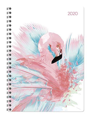 Ladytimer Ringbuch Flamingo - Taschenkalender A5 - Kalender 2020 - Alpha Edition-Verlag - Eine Woche auf 2 Seiten - Buchplaner mit Platz für Termine und Notizen - Format 15 cm x 21 cm
