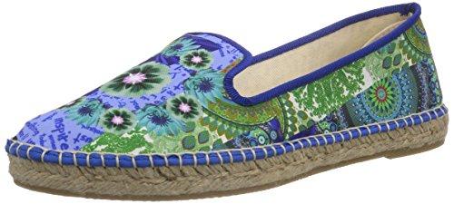 Desigual Shoes Mika, Espadrilles femme Turquoise - Türkis (5024)