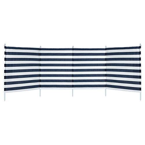 Aktive-Paravent 4Panneaux Rayures Bleues, 3.2x 2.5x 1.24m