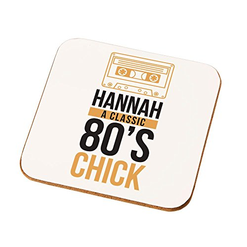 Personalised 80's Chick Drinks Coaster