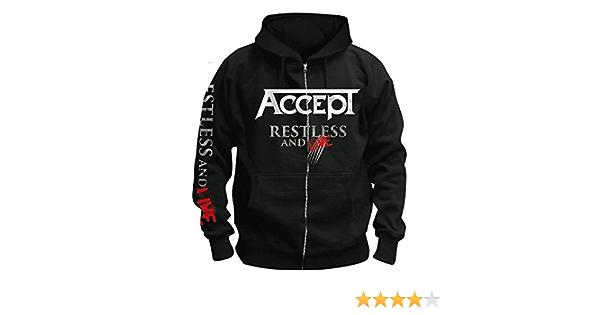 Kapuzenjacke//Zipper Accept Restless /& Live