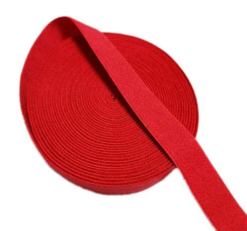 Danxia, bobina elastica in nylon, 5 m x 15 mm (l x p), colore: rosso