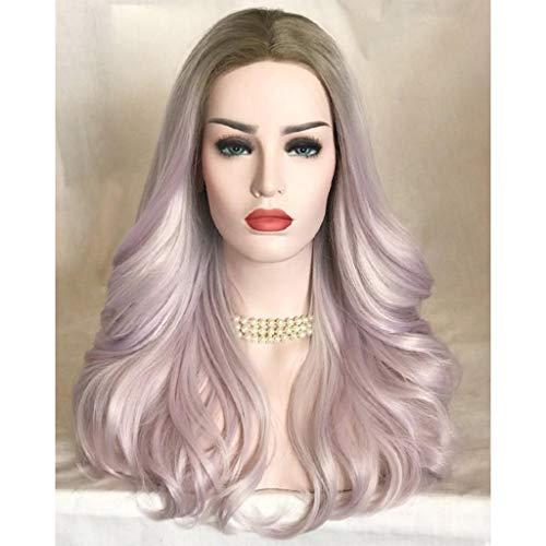 Sunday Perücke Blond Lang Haar Extension Wigs Glatt Perücken für Cosplay Karneval Halloween Weiblich aus Hitzbeständige Ballaststoff (Rosa) (Halloween Rabatt Perücken)