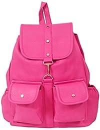 cacdd081c658 Beets Collection Student Shoulder Backpack for Women   Girls Bag (Pink)