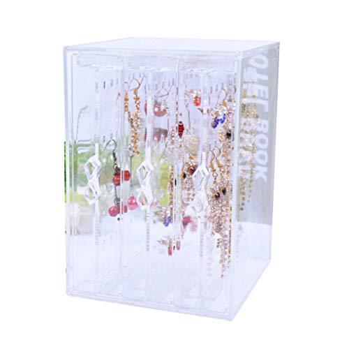 Level Klar PS-Material Schmuck staubdichte Aufbewahrungsbox 3 Schubladen Ohrring-Halter-große Kapazitäts-Ohrstecker Organizer Anzeigen-Regal