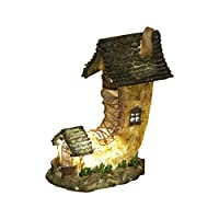TRR6H The Home of Water Goldwasp Illuminated Solar Powered LED Fairy Dwelling Light