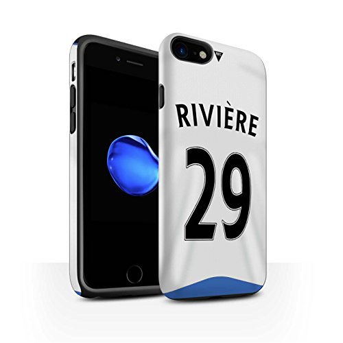Offiziell Newcastle United FC Hülle / Matte Harten Stoßfest Case für Apple iPhone 7 / Taylor Muster / NUFC Trikot Home 15/16 Kollektion Rivière