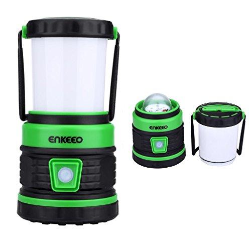 Enkeeo - Farol Protátil de Acampada, Lámpara Camping Colgante (Agua resistente, 5 modos de iluminación, Mini PowerBank, 300 lumenes)