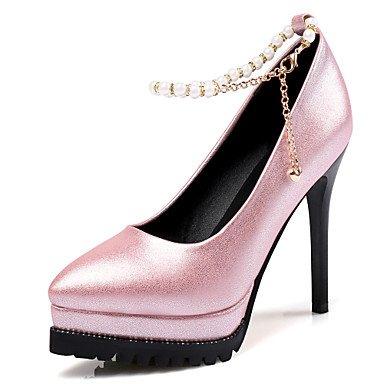 LYNXL Talloni delle donne Primavera Estate Autunno Club Scarpe Suede ufficio & carriera di feste ed abito da sera tacco a spillo nappa nero grigio rosa Walking Pink