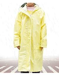 LHP Chubasqueroimpermeable Niños impermeable impermeable niños transpirables y poncho de las niñas protección del medio ambiente moda poncho azul, rosa y amarillo ( Color : A , Tamaño : L )