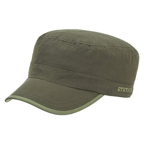 Stetson Blaine Outdoor Army Kappe Herren | Outdoor-Cap Urbancap Nylonkappe Hinten geschlossen, mit Schirm Frühling-Sommer | M (56-57 cm) Oliv