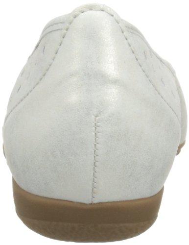 Gabor Ruffle L, Ballerine donna Argento (Silver Shimmering)