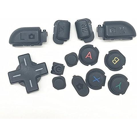 Zhuhaixmy inizio a casa di sostituzione selezionare il pulsante LR ABXY Home Start Select LR Button Key per Nintendo NEW 3DSLL 3DSXL Console Color 5 - Abxy Pulsanti