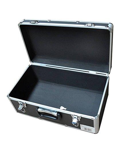 Transportkoffer mit hochwertigem Aluminiumrahmen, stoßfestem ABS Korpus und hochwertigen Metallverschlüssen, abschließbar. Maße B x T x H: 48 x 26 x 21 cm, 27 Ltr. Volumen! TOP