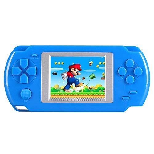KOBWA - Consola de Juegos de Mano para niños, construida en 268 Juegos clásicos Antiguos, Consola portátil de Juegos, el Sistema de Videojuegos Arcade de los 80, Color Azul