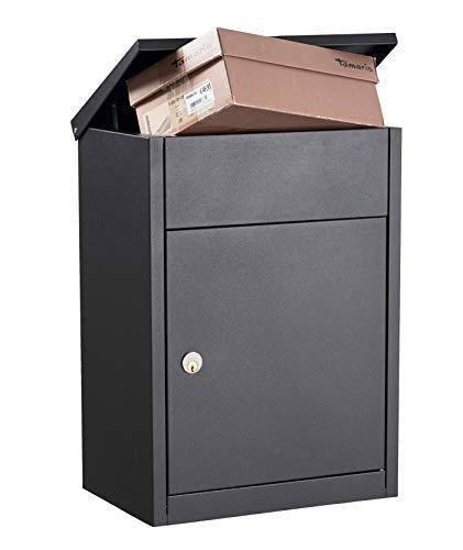 Allux Grundform F54517 Briefkasten , Anthrazit, 530 x 380 x 250 mm
