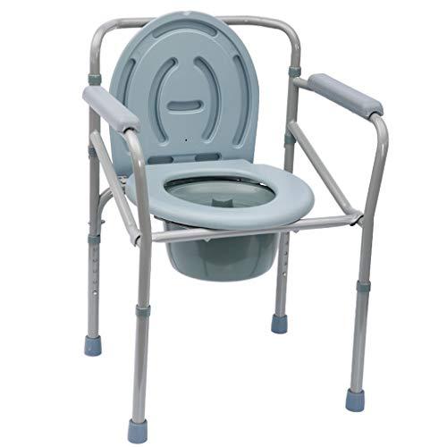 Fünf-Gang-verstellbare ältere Toilettenstuhl Behinderte einfache Toilette Faltbare Mobile Handlauf abnehmbare Toilette Duschstuhl Schwangere Frauen nach Hause Bad Stuhl (Color : One-Piece Folding)