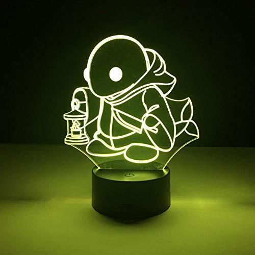 CYJQT 3D Nachtlichter Kinder Emotionen Lichter Kinder Lednighlighttonberry Spiele Final Fantasy Nachtlichter Kinderzimmer Dekoration Lichter Jungen Beste Geschenke Led Nachtlichter Schildkröten