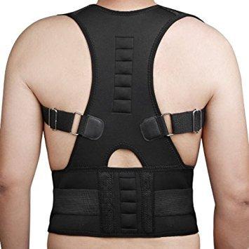 Acuario magnética postura Corrector espalda y ajustar su lomo Unisex tamaño XL. Alivia el dolor de la Mala postura y Realinea su lomo a la perfecta posición con postura apoyo.