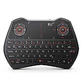 Rii i8 2.4GHz Wireless Kabellose Mini Tastatur (92 Keys DE QWERTZ)Ergonomische mit Touchpad-Maus und Ersatz Wiederaufladbare Li-ion Batterie für Smart TV, Raspberry Pi,Mini PC, HTPC, Computer und Konsolenspiele MacOS,Linux, Android,XBMC,Windows 2000 XP Vista 7 8 (Rii i8 Schwarz)