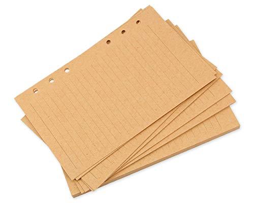 DS.Distinctive Style A5 Craft Nachfüllpapier 80 Blatt / 160 Seiten Blinder Papier Planer Einlagen für 6 Löcher Tagebuch Notizbuch (Ds Craft)