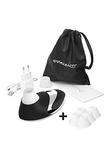 womanizer PRO - Intim Stimulationsgerät CHROME + 5er Pack Ersatzbehandlungsköpfe