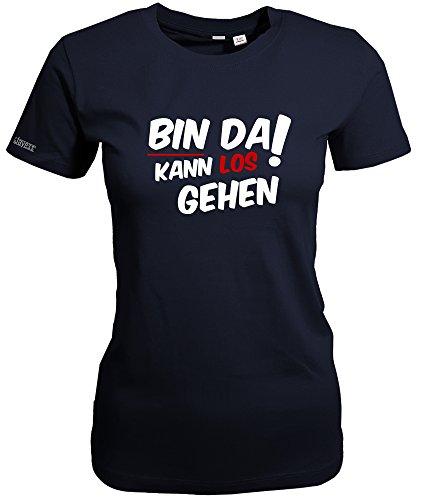 BIN DA KANN LOS GEHEN - WOMEN T-SHIRT Navy
