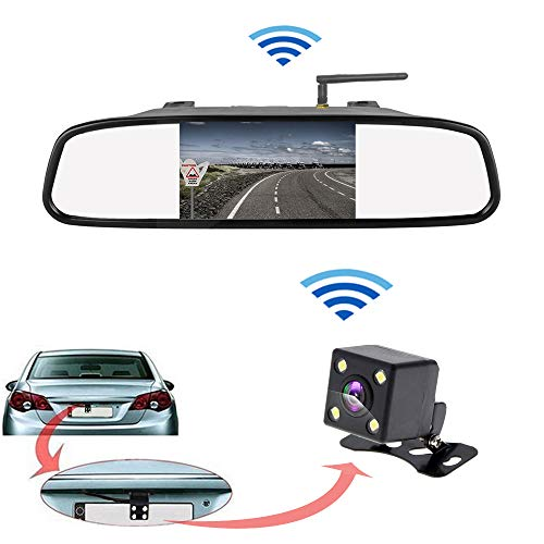Monitor Espejo cámara Marcha atrás inalámbrico