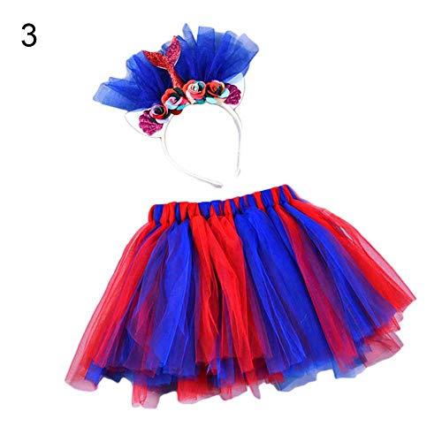 AxssjS Prinzessin Kinder Mädchen Tüllrock Ballett Tutu Petticoat mit Haarreif, L 3 (Für Röcke Pudel Kleinkinder)