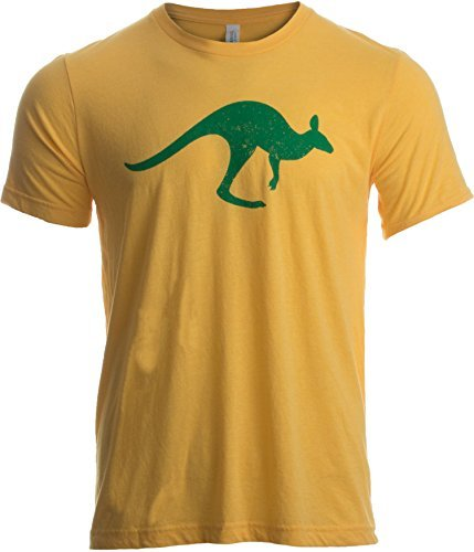 Ann Arbor T-shirt Company Motivo de Australia con Canguro y Cruz del Sur - 262d8c913d76
