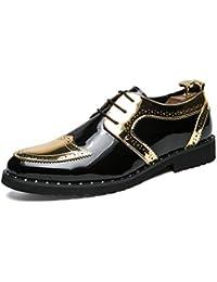 1e07c66dba201 Los Hombres Brogues Zapatos de Vestir de Oficina Deslizamiento en Pisos  Zapatos Puntiagudos Toe