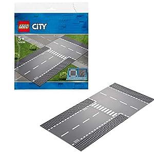 LEGO CitySupplementary RettilineoeIncrocioaT Supplementare con 2 Piattaforme di Base per Tutti i Set da Costruzione, 60236 5702016369786 LEGO