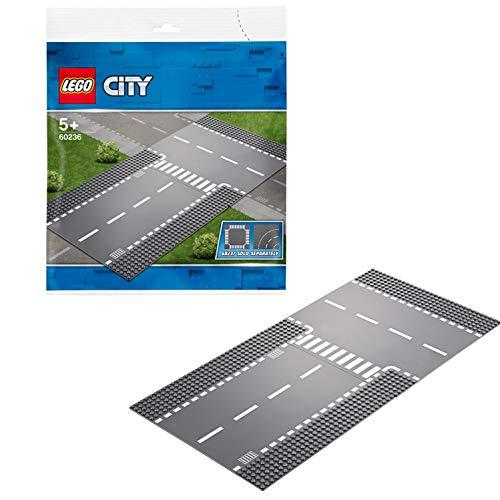 Lego 60236 City Gerade und T-Kreuzung, bunt -