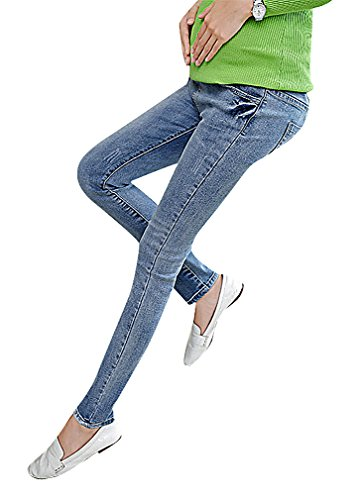 Flora, maternità Jeans Slim Donna Blu Eclettico stili Straight Full TV Blue 46