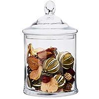 SOLAVIA Clear Glass Bon Bon Storage Jar & Lid Tara 30 cm high | Apothecary Candy Jar