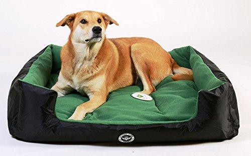 Loving Care Pet Products Ultra Supreme Lounger Style Pet Bed Hund, Katze und Tierbett. Waschbar und wasserdicht. Erhältlich in 3 Größen und 3 Farben (L = 80 cm x 65 cm, Vertrauen Grün) (Hundebett Lounger)