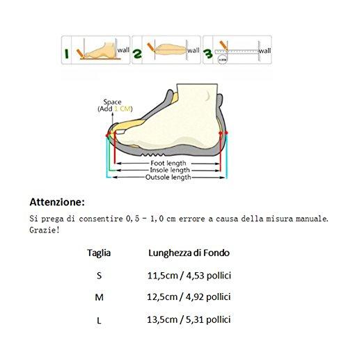 Confortevole Scarpine per Bimba Carino Sandali Scarpine Neonata con il modello classico per 0-18 Mesi Neonate (Bianca, M) Rosa